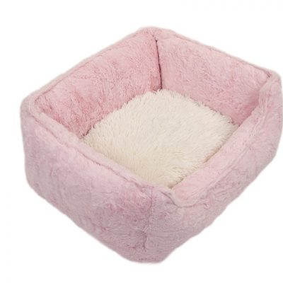 Light Pink Mink with Cream Shag Lounge Bed