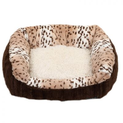 Chocolate & Snow Leopard Lounge Bed