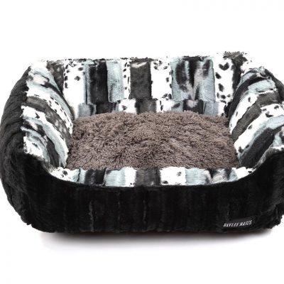 Exotic Black & Grey with Black Mink & Grey Shag Lounge Bed