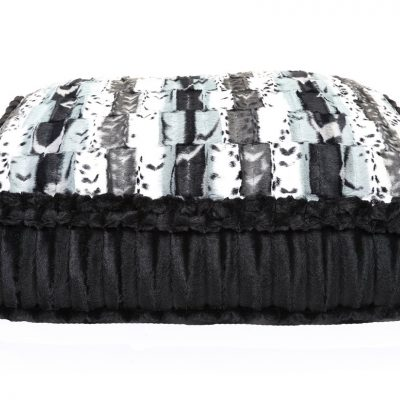Exotic Black & Grey with Black Mink Rectangle Bed