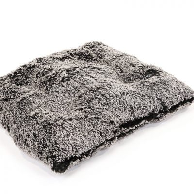 Black Frosted Shag Pillow Bed