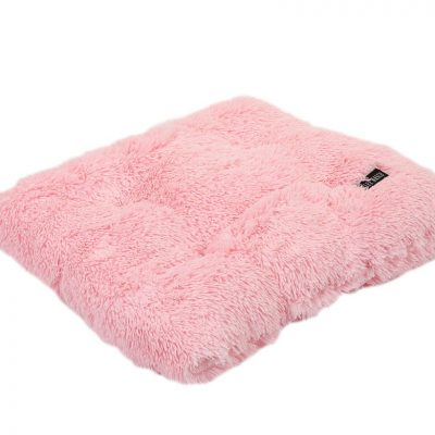 Light Pink Shag Pillow Bed