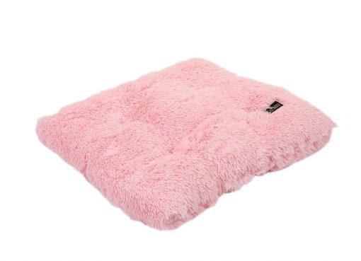 Light Pink Shag Pillow Bed