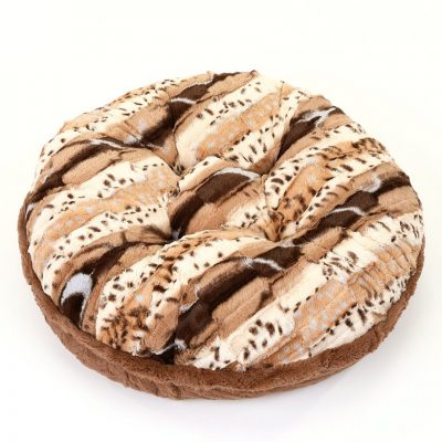 Exotic Camel & Cappuccino Mink Bagel Bed