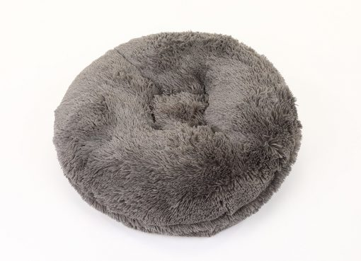 Grey Shag Bagel Bed