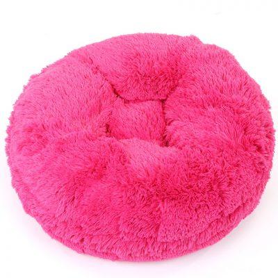 Hot Pink Shag Bagel Bed