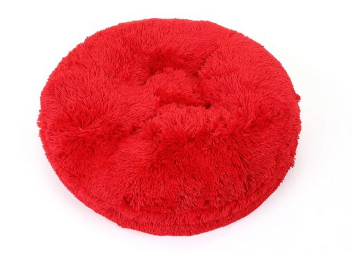 Red Shag Bagel Bed