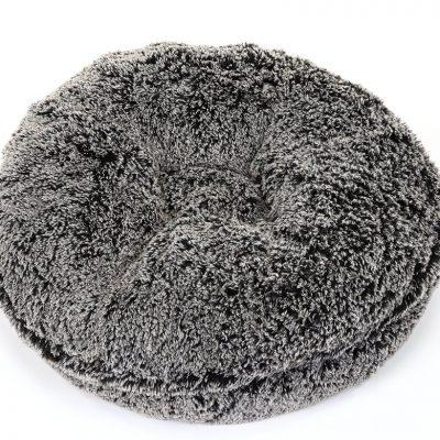 Black Frosted Shag Bagel Bed