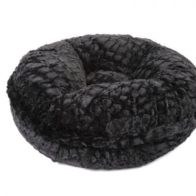 Crocodile Black Mink Bagel Bed