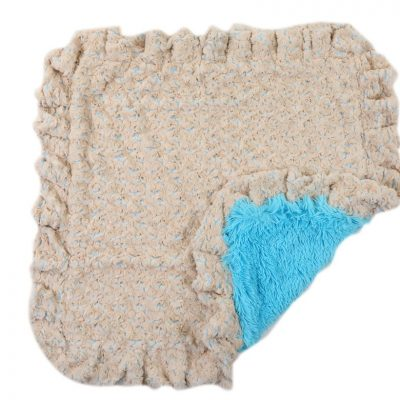 Baby Blue Rosebud with Blue Shag Blanket