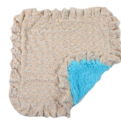 Baby Blue Rosebud with Blue Shag Blanket