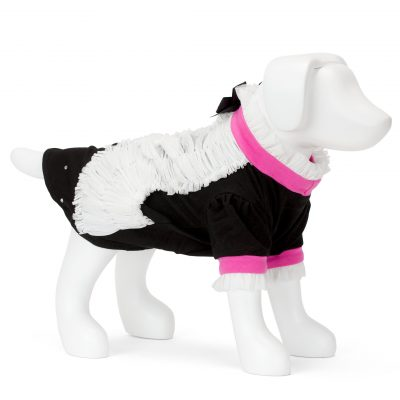F&R for VP Pets Giggy Ruffle Dress Shirt - Pink/Black