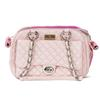 Vanderpump Classic Quilted Luxury Pet Carrier with chain - Pink