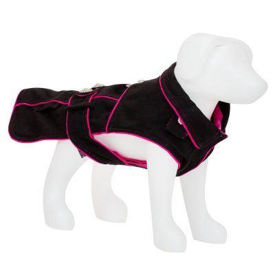 F&R for VP Pets 5th Avenue Coat - Black/Pink