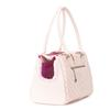 Vanderpump Monogramme Strap Pet Carrier - Light Pink