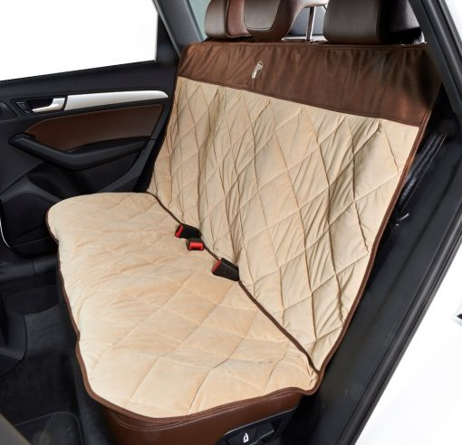 Cross Country Back Seat Protector Almond