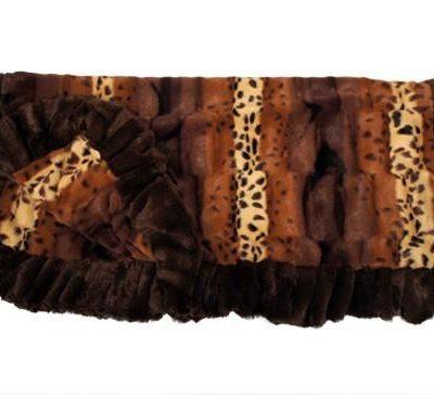 Exotic Fur Brown/Gold Blanket