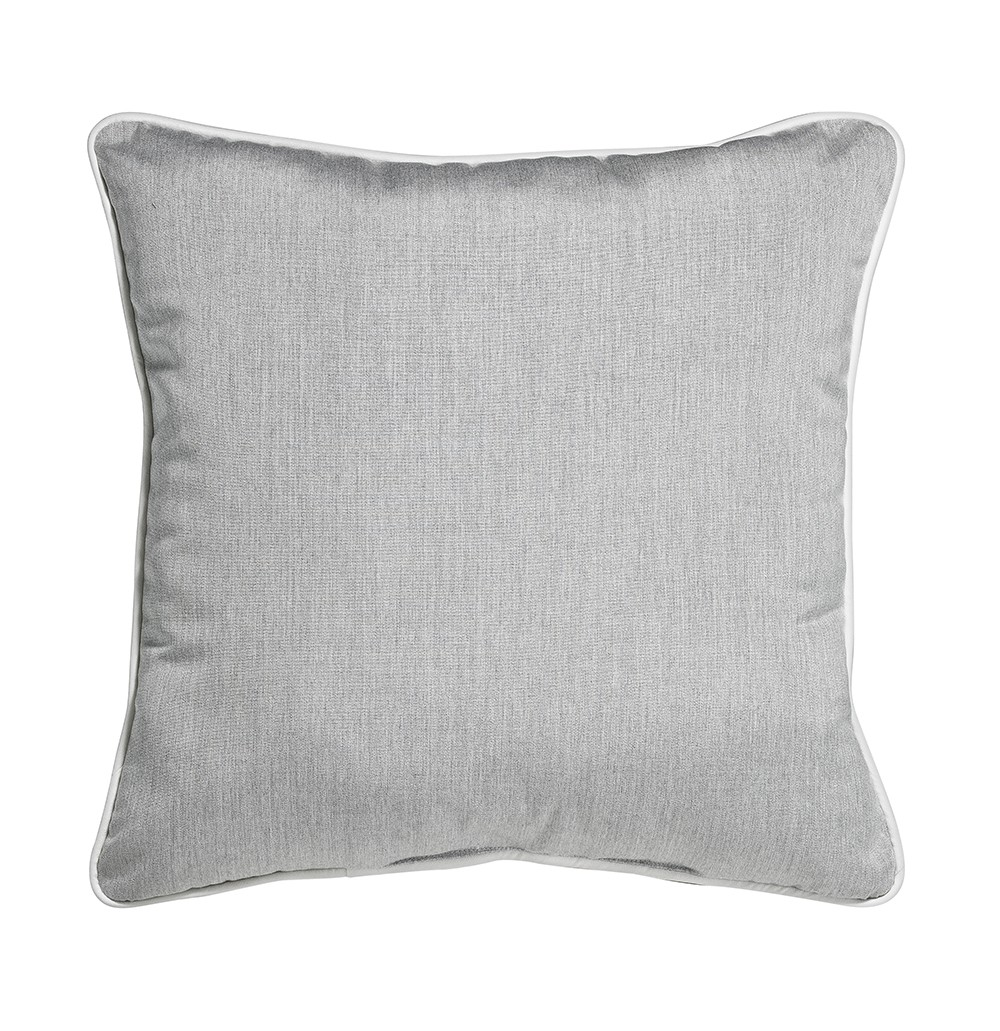 """Outdoor Throw Pillow Square Heather Grey 16""""x16"""""""
