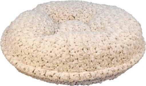 Chocolate/Beige Rosebud Bagel Bed