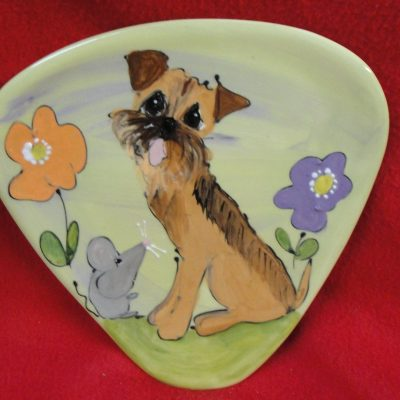 Border Terrier Dog Trophy