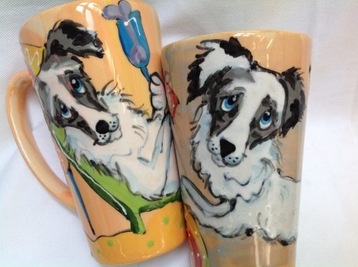 Australian Shepherd Mugs and Tall Lattes