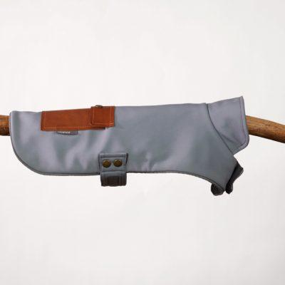Light Grey Neoprene Pocket Jacket