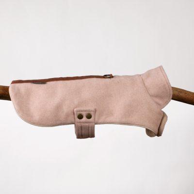 Pink Herringbone Tweed Cape Jacket