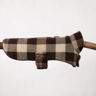 Brown Plaid Cape Jacket