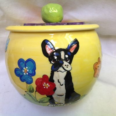 Boston Terrier Treat Jar