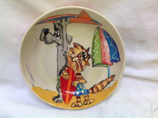 Cat and Labrador Bowl