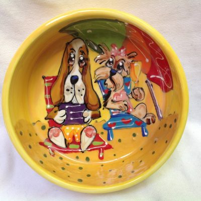 Basset Hound Dog Bowl