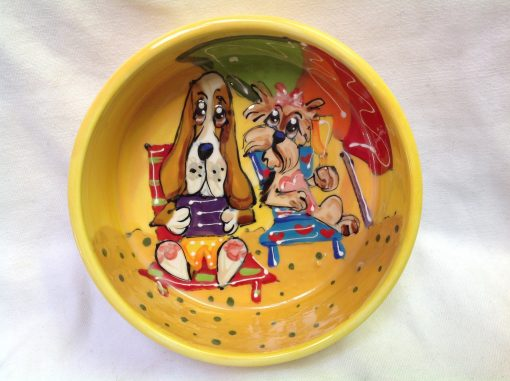 Basset Hound Dog Bowl