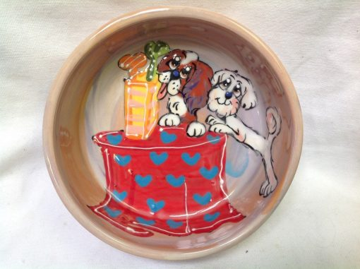 Bichon and King Charles Cavalier Dog Bowl
