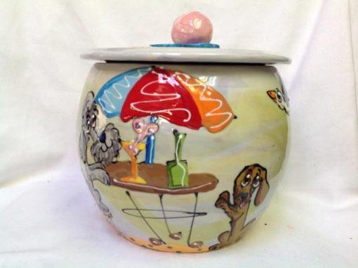 Schnauzer Treat Jar
