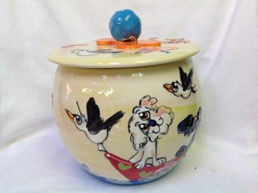 Maltese Treat Jar