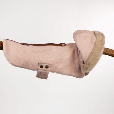 Pink Herringbone Hooded Jacket