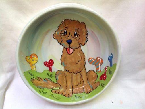 Golden Doodle Dog Bowl