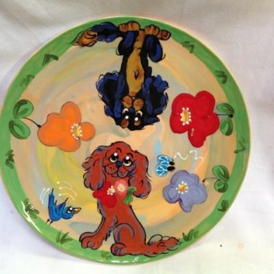 King Charles Cavalier Dog Trophy