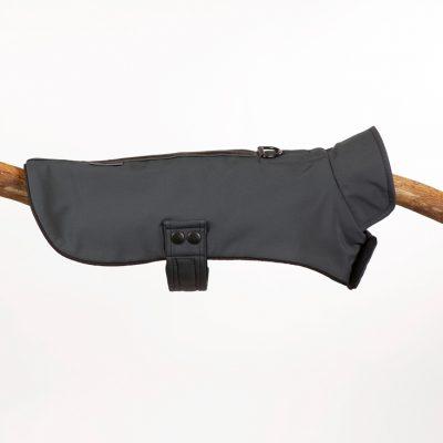 Dark Grey Neoprene Cape Jacket