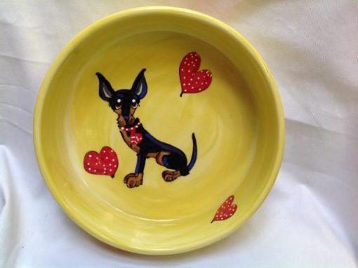 Doberman Pinscher Dog Bowl