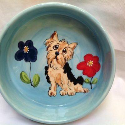 Yorkie Terrier Dog Bowl