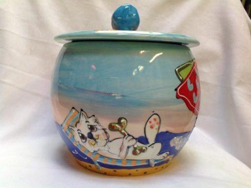 Westie Treat Jar