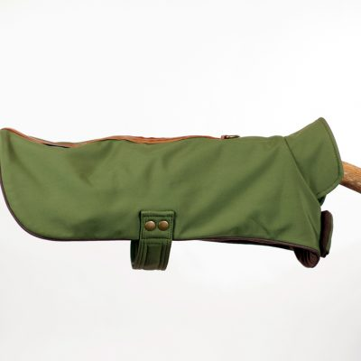 Military Green Neoprene Cape Jacket