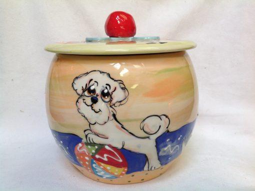 Bichon Treat Jar