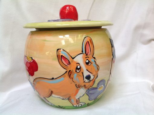 Welsh Corgi Treat Jar
