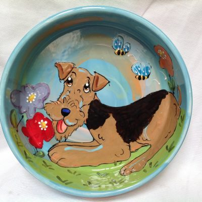 Airedale Terrier Dog Bowl