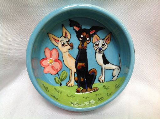Mini Pinscher Dog Bowl