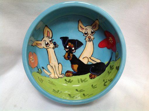 Mini Pinscher Dog Bowl