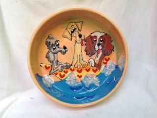 Labrador, Poodle and King Charles Cavalier Dog Bowl