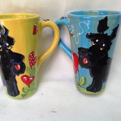Schnauzer Mugs and Tall Lattes